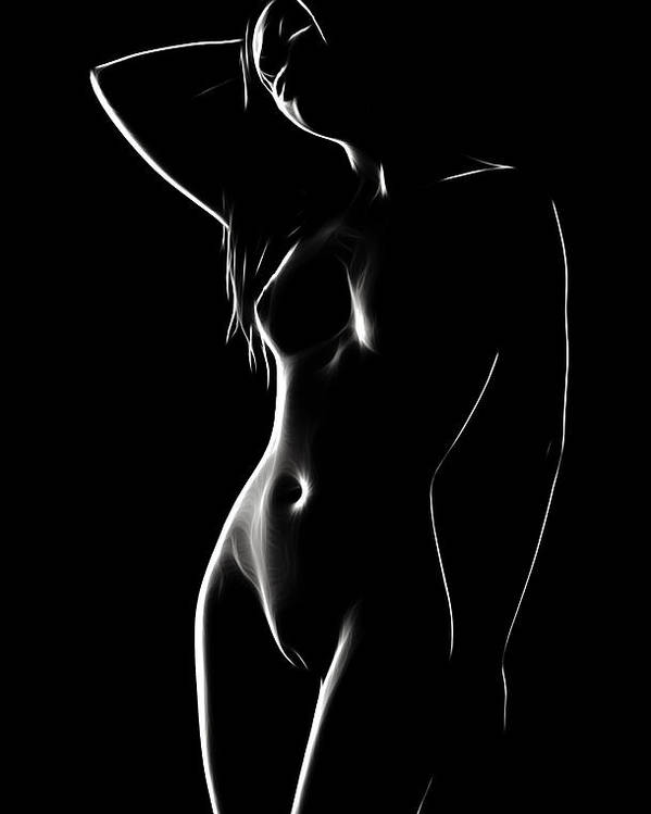 Female Woman Body Nude Breast Tits Scape Figure Curve Curves Abstract Painting Naked Black White Erotic 裸 Girl Sex Virgin Boobs Innocence Love Kiss Intimo Erotico Vergine Culo Tette Innocenza Fille Femme Sexe Erotique Cul Vierge Seins Sieviete Kobieta Cycki Menina Intima Erotica Virgen Tetas Beauty Sensual Portrait Art Love Lovesickness Emotional Black White Bw Pop Art Vintage Lust Desire Hills Lolita Look Portrait Painting Maid Maiden Light Ecstasy Minimalism Dream Dreams Poster featuring the painting The Perfect Gift by Steve K