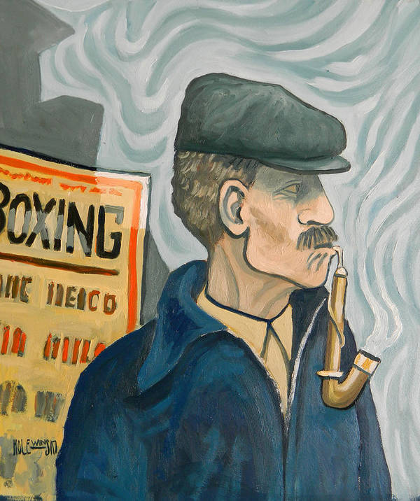 New Jersey Poster featuring the painting The Pipe Smoker by Robert Holewinski