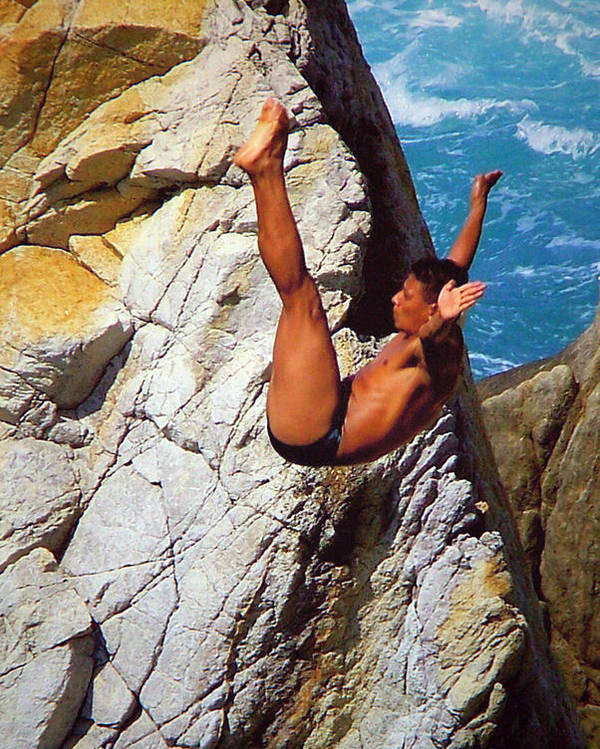 Mexico Poster featuring the photograph The Plunge  by Karen Wiles