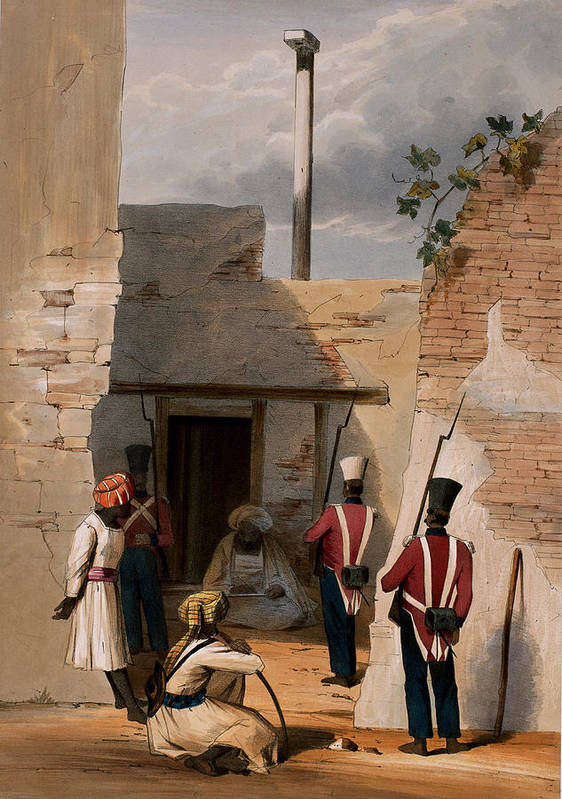Male Poster featuring the drawing The Prison Of Hadjee Khan Kakus - by Lieutenant Thomas Wingate