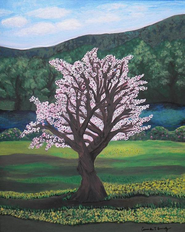 Creative Passages Poster featuring the painting The Promise Of The Almond Tree by Cassandra Donnelly