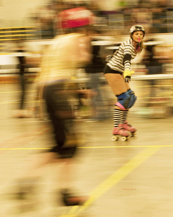 Roller Derby Poster featuring the photograph The Ref by Theresa Tahara