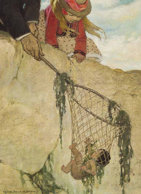 Saved Poster featuring the painting The Rescue Circa 1916 by Aged Pixel