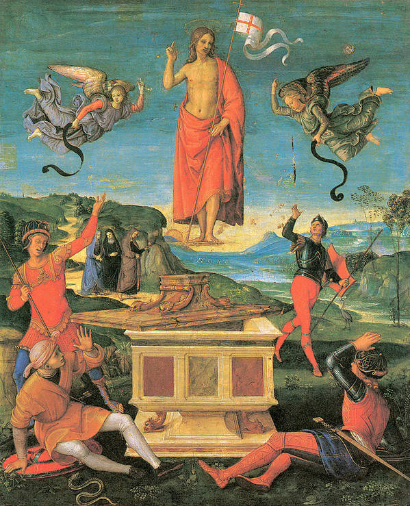 Raphael Poster featuring the painting The Resurrrection Of Christ by Raphael