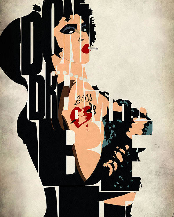 Dr. Frank-n-furter Poster featuring the painting The Rocky Horror Picture Show - Dr. Frank-n-furter by Inspirowl Design