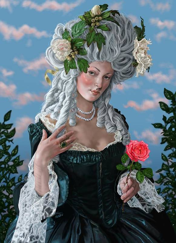 Marie Antoinette Poster featuring the digital art The Rose Of Marie Antoinette by Mark Satchwill