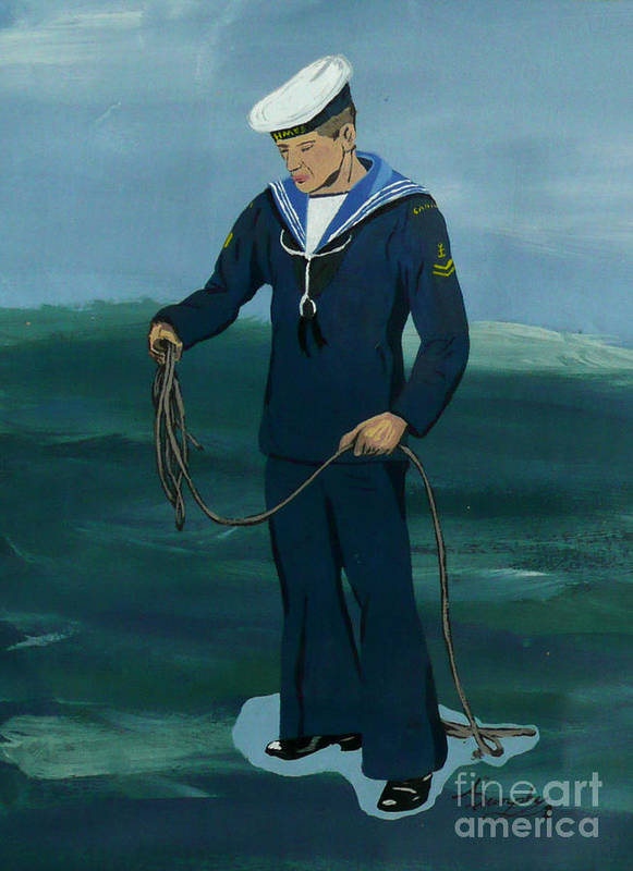 Sailor Poster featuring the painting The Sailor by Anthony Dunphy