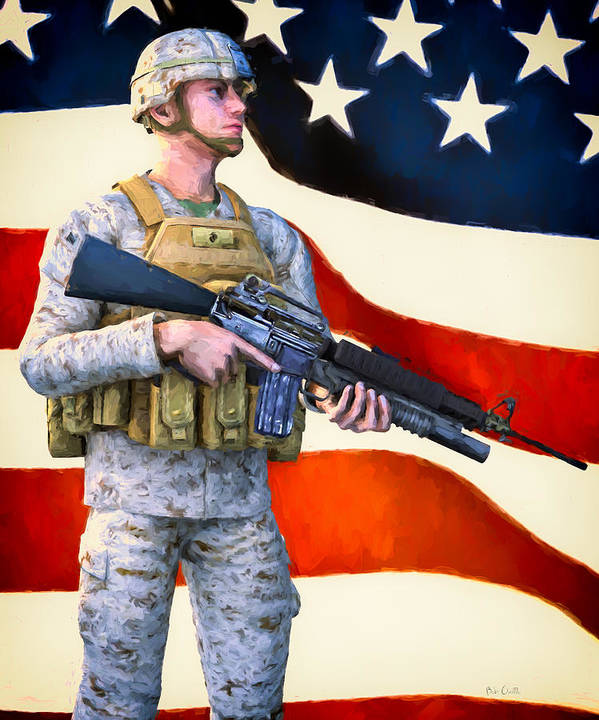 Patriotic Poster featuring the painting The Sentry by Bob Orsillo