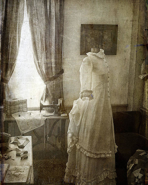 Cindi Ressler Poster featuring the photograph The Sewing Room by Cindi Ressler
