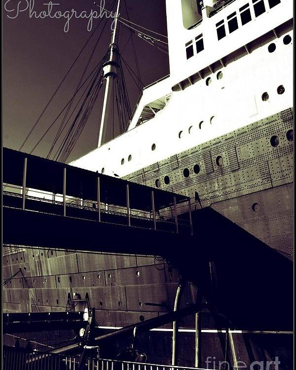 Poster featuring the photograph The Side Of The Big Ship by Amy Delaine
