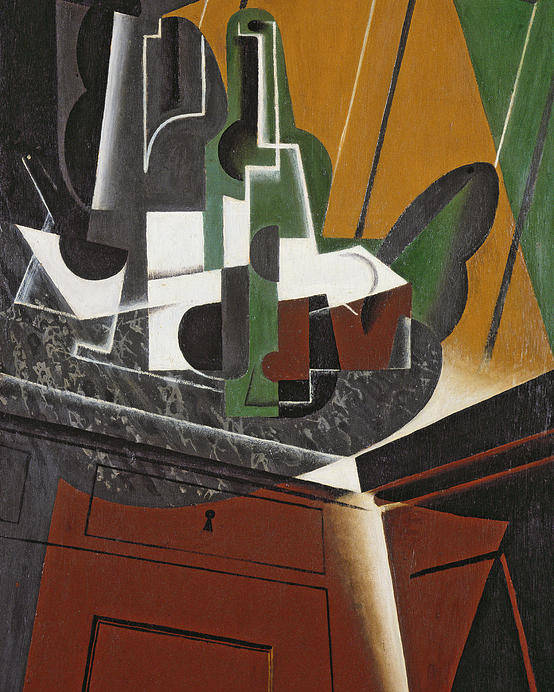 Cubist Poster featuring the photograph The Sideboard, 1917 Oil On Plywood by Juan Gris