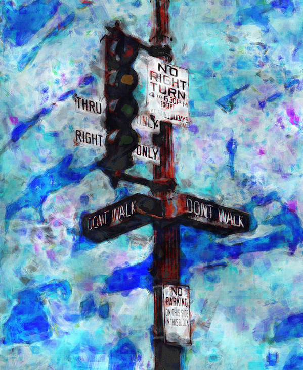 Urban Poster featuring the painting The Signal by Jack Zulli