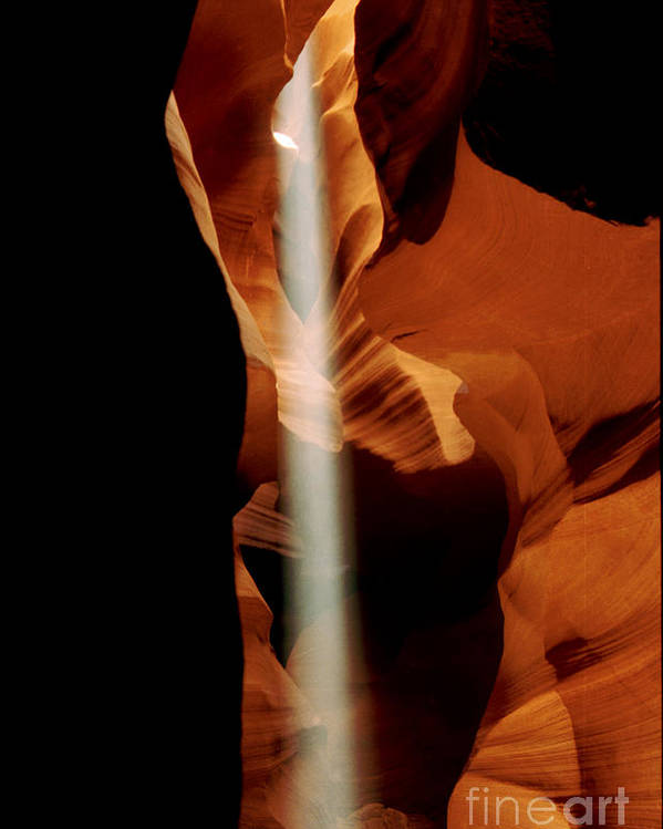 Antelope Canyon Poster featuring the photograph The Source by Kathy McClure