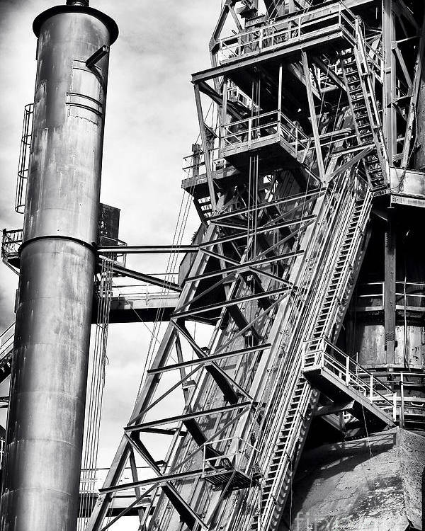 The Steel Mill Poster featuring the photograph The Steel Mill by John Rizzuto