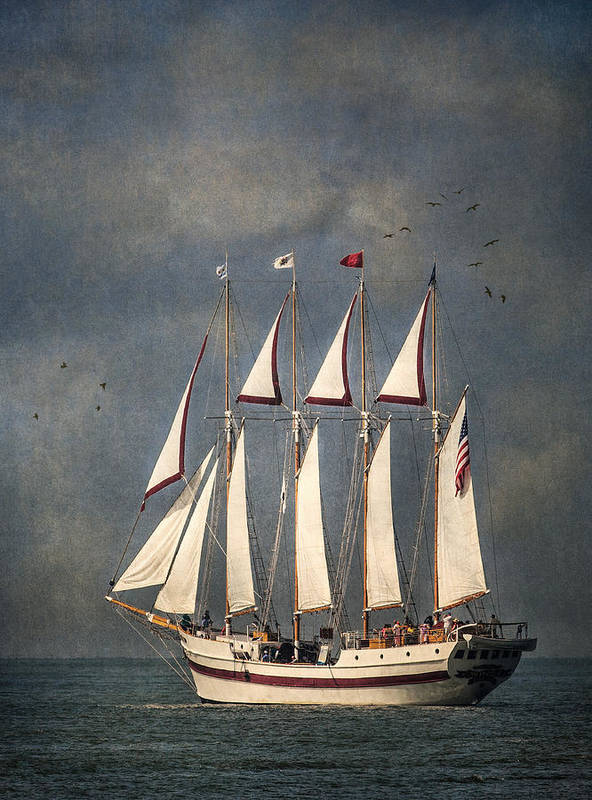 Windy Poster featuring the photograph The Tall Ship Windy by Dale Kincaid