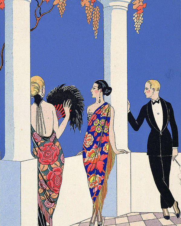 Le Gout Des Chales Poster featuring the painting The Taste Of Shawls by Georges Barbier