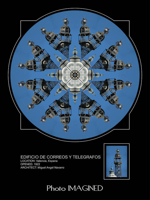 Kaleidoscope Poster featuring the digital art The Telegraph Building by Mike Johnson