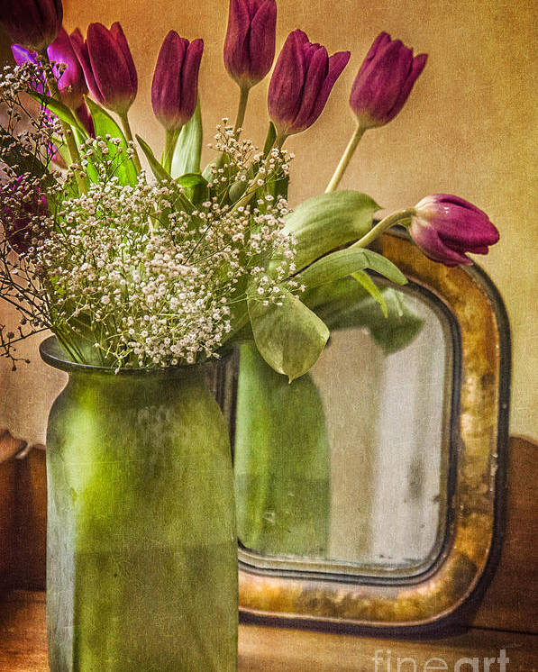 Tulip Poster featuring the photograph The Tulips Stand Arrayed - A Still Life by Terry Rowe