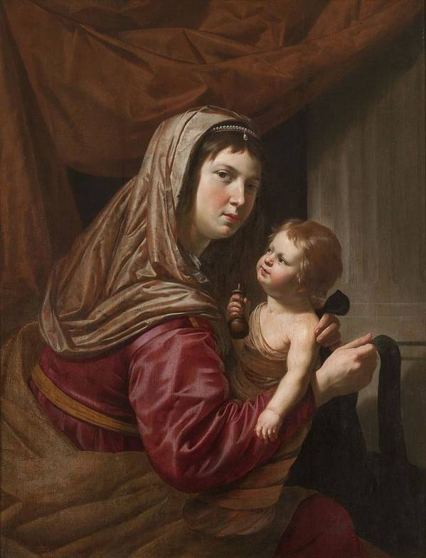Virgin Mary Poster featuring the painting The Virgin And Child by Jan van Bijlert or Bylert
