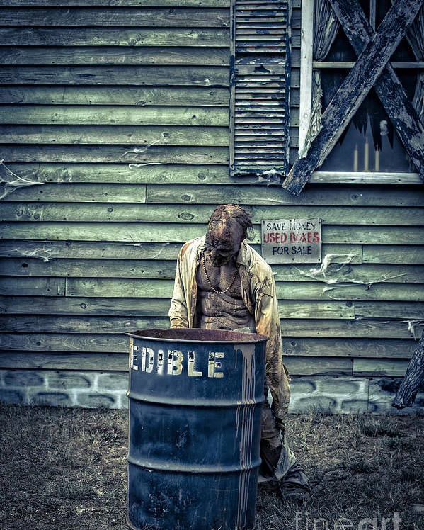 Zombie Poster featuring the photograph The Walking Dead by Edward Fielding