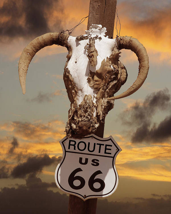 Route 66 Poster featuring the photograph The Warmth Of Route 66 by Mike McGlothlen