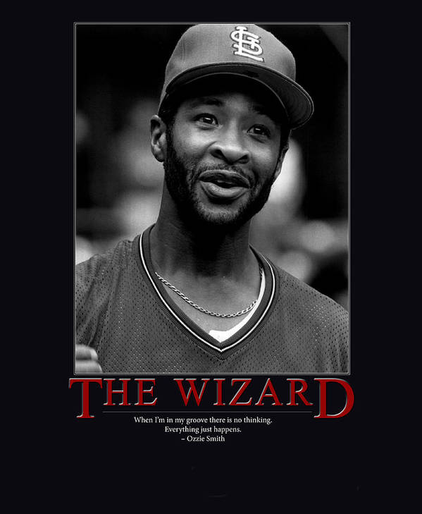 Giant Inspiration Poster featuring the photograph The Wizard Ozzie Smith by Retro Images Archive