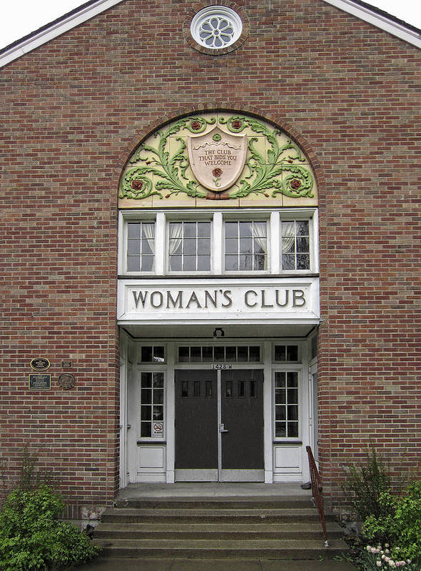 Women Poster featuring the photograph The Womans Club Bids You Welcome by Daniel Hagerman