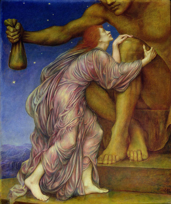 Allegory Poster featuring the painting The Worship Of Mammon by Evelyn De Morgan