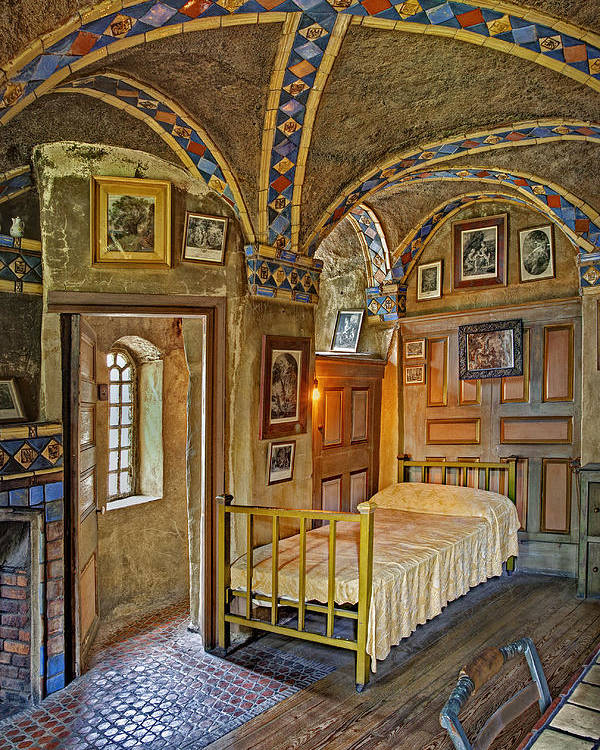 Byzantine Poster featuring the photograph The Yellow Room At Fonthill Castle by Susan Candelario