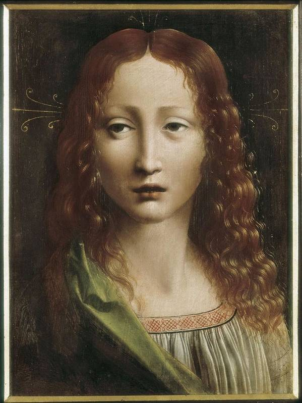 Portrait Poster featuring the photograph The Young Saviour. 15th C. - 16th C by Everett