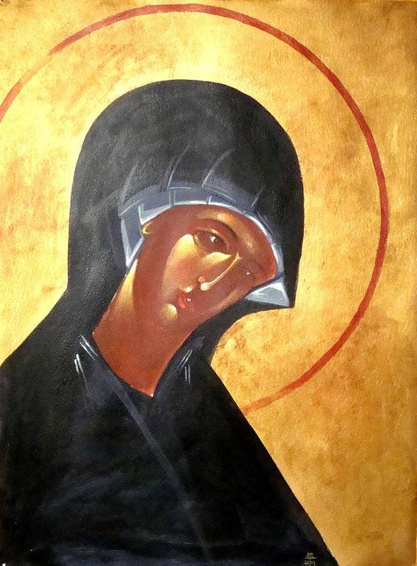 Icon Poster featuring the painting Theotokos by Joseph Malham