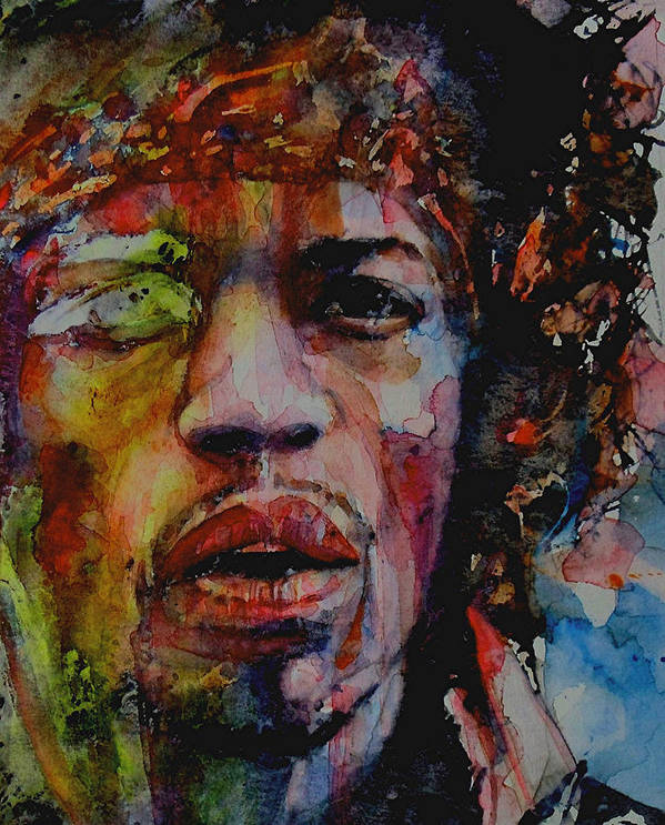 Hendrix Poster featuring the painting There Must Be Some Kind Of Way Out Of Here by Paul Lovering