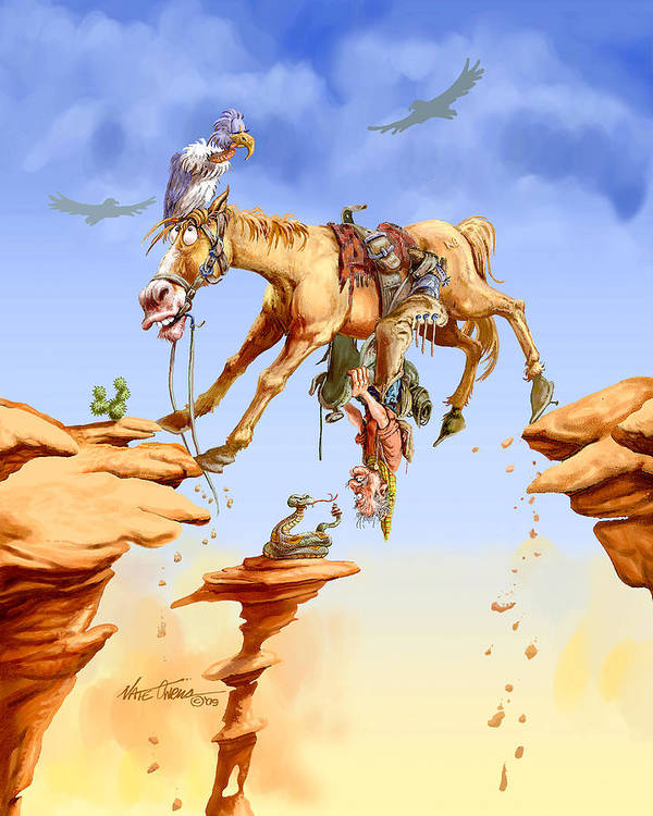 Horse Poster featuring the painting Things Are Looking Up by Nate Owens