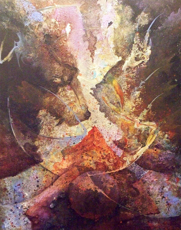 Abstract Poster featuring the painting This Too Shall Rise by Fred Wellner