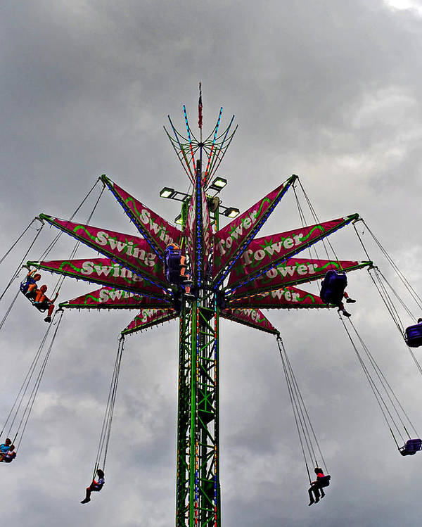 Fair Poster featuring the photograph Thrill Tower by Skip Willits