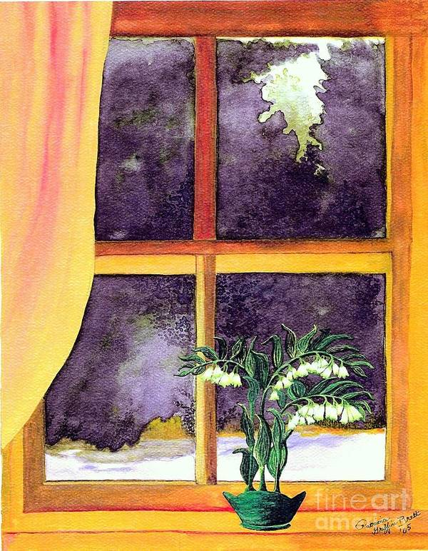 Fine Art Poster featuring the painting Through The Window by Patricia Griffin Brett