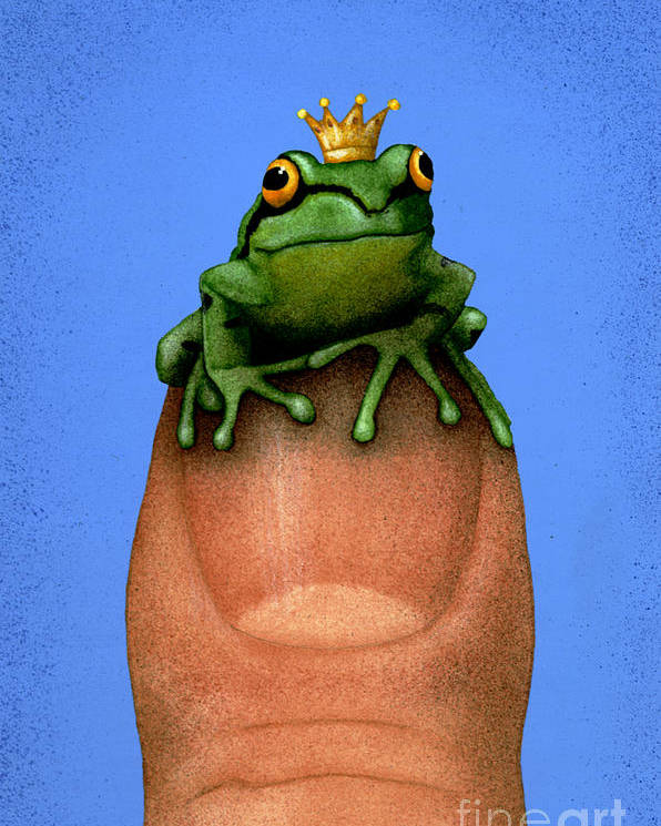 Will Bullas Poster featuring the painting Thumb Prince... by Will Bullas