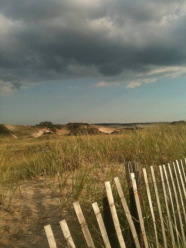 Storm Clouds Poster featuring the photograph Thunder Dunes by Tricia Nilsson