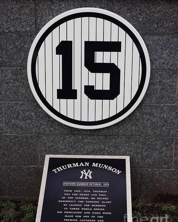 Yankees Poster featuring the photograph Thurman Munson by Andrew Romer