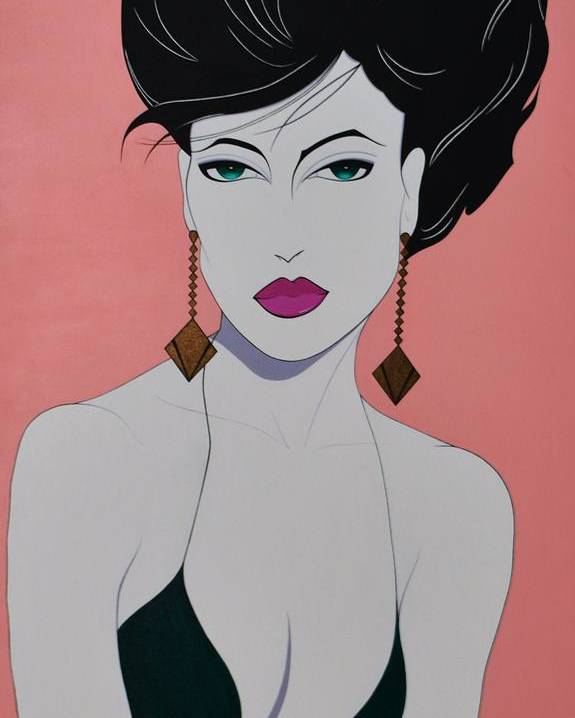 Woman Poster featuring the painting Tiffany by Patrice Clark