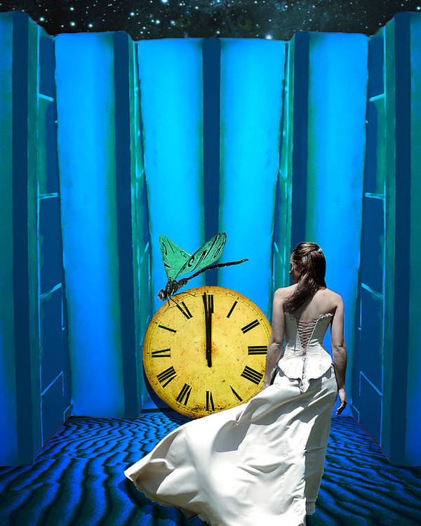 Surreal Poster featuring the photograph Time Fly by Jim Painter