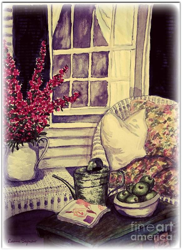 Verandah Poster featuring the painting Time To Relax by Leanne Seymour