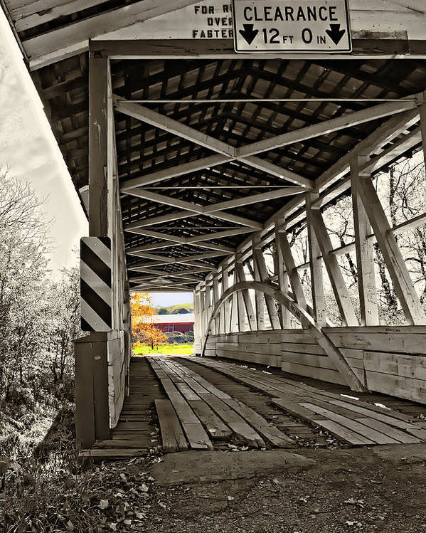 Turner's Covered Bridge Poster featuring the photograph Time Travel 2 by Steve Harrington