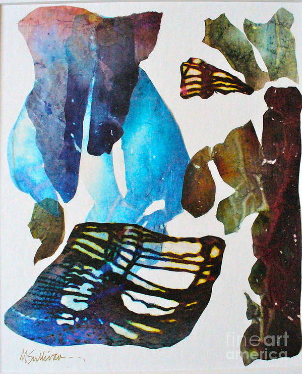 Abstract Poster featuring the painting Time Warp by Mary Sullivan