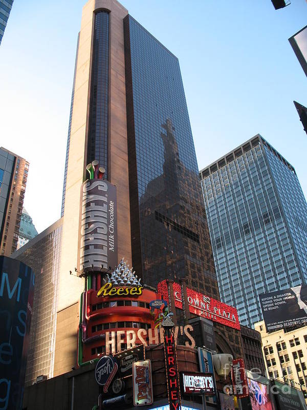 Times Square Poster featuring the photograph Times Square - New York City by Christiane Schulze Art And Photography