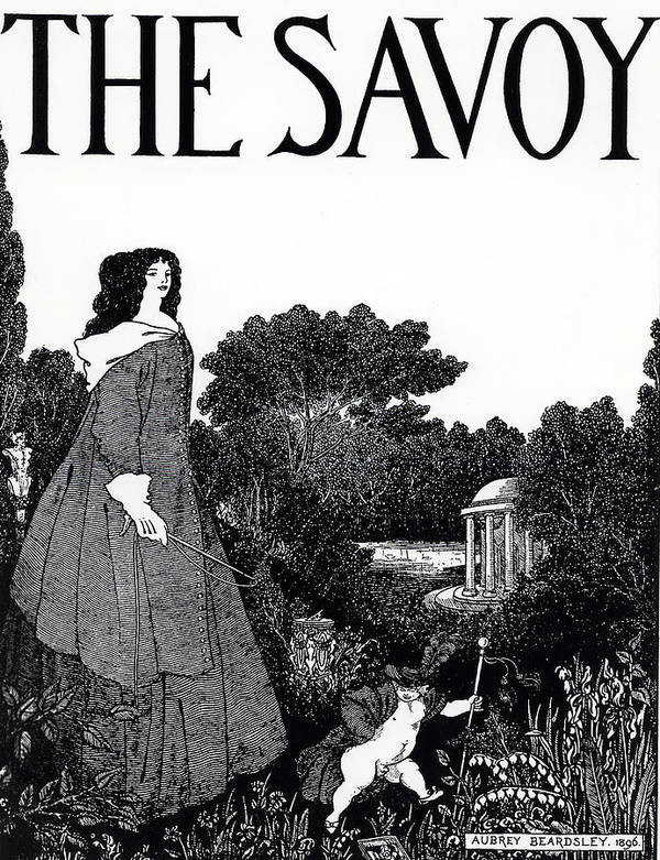 Aubrey Poster featuring the painting Title Page From The Savoy by Aubrey Beardsley