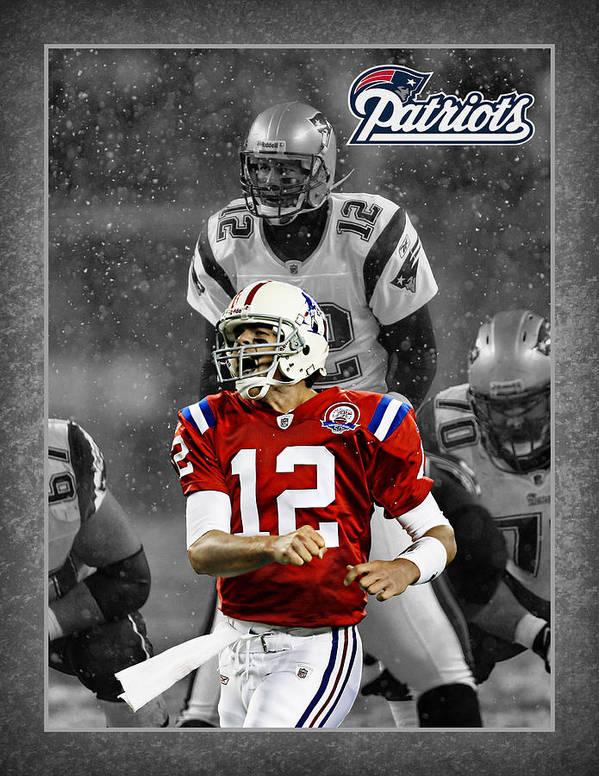 Tom Brady Poster featuring the photograph Tom Brady Patriots by Joe Hamilton