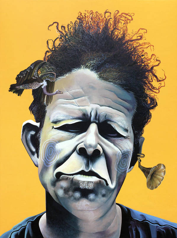 Kellyjadeart Poster featuring the painting Tom Waits - He's Big In Japan by Kelly Jade King