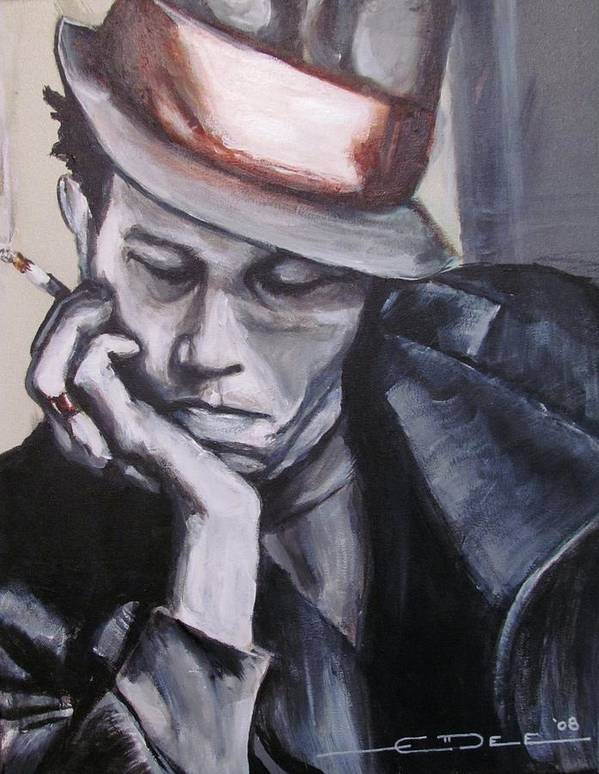 Celebrity Portraits Poster featuring the painting Tom Waits One by Eric Dee