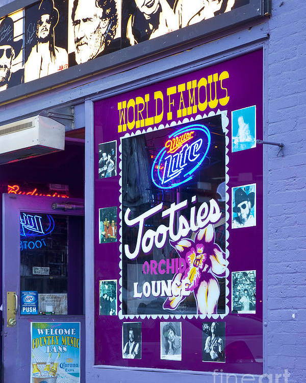 Tootsies Poster featuring the photograph Tootsies Nashville by Brian Jannsen